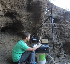 Materials analysis in the rock shelters of early human settlers of North America